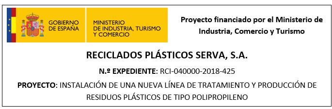 Instalación de una nueva línea de tratamiento y producción de residuos plásticos de tipo polipropileno