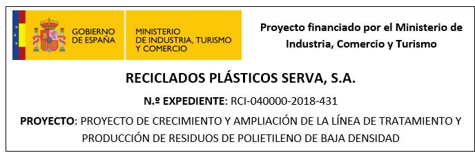 Proyecto de crecimiento y ampliación de la línea de tratamiento y producción de residuos de polietileno de baja densidad.